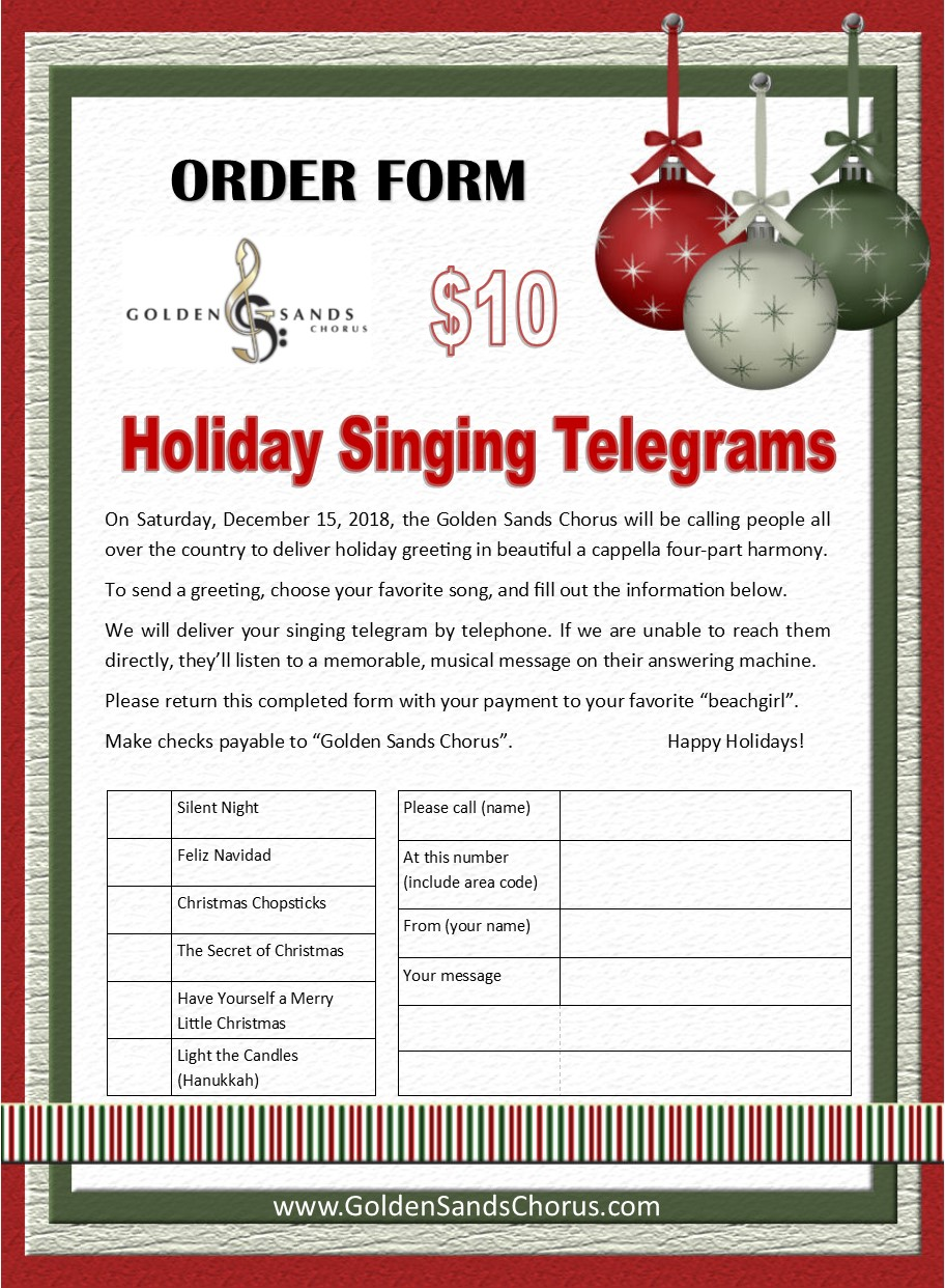 2018.12.15 Holiday Singing Telegram Order Form